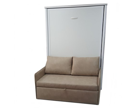 Cama abatible vertical individual con sof for Sofa cama armario
