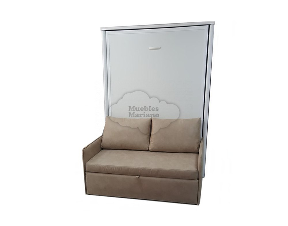 Cama abatible vertical individual con sof for Sofa cama 135 ancho