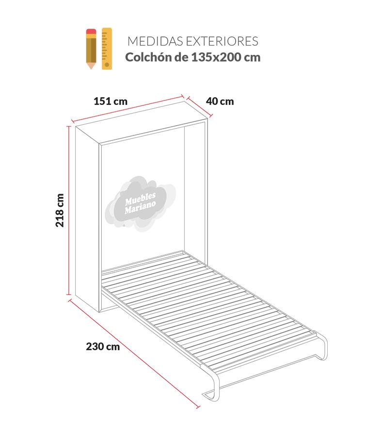 Medidas camas de matrimonio simple medidas with medidas - Medidas camas abatibles ...