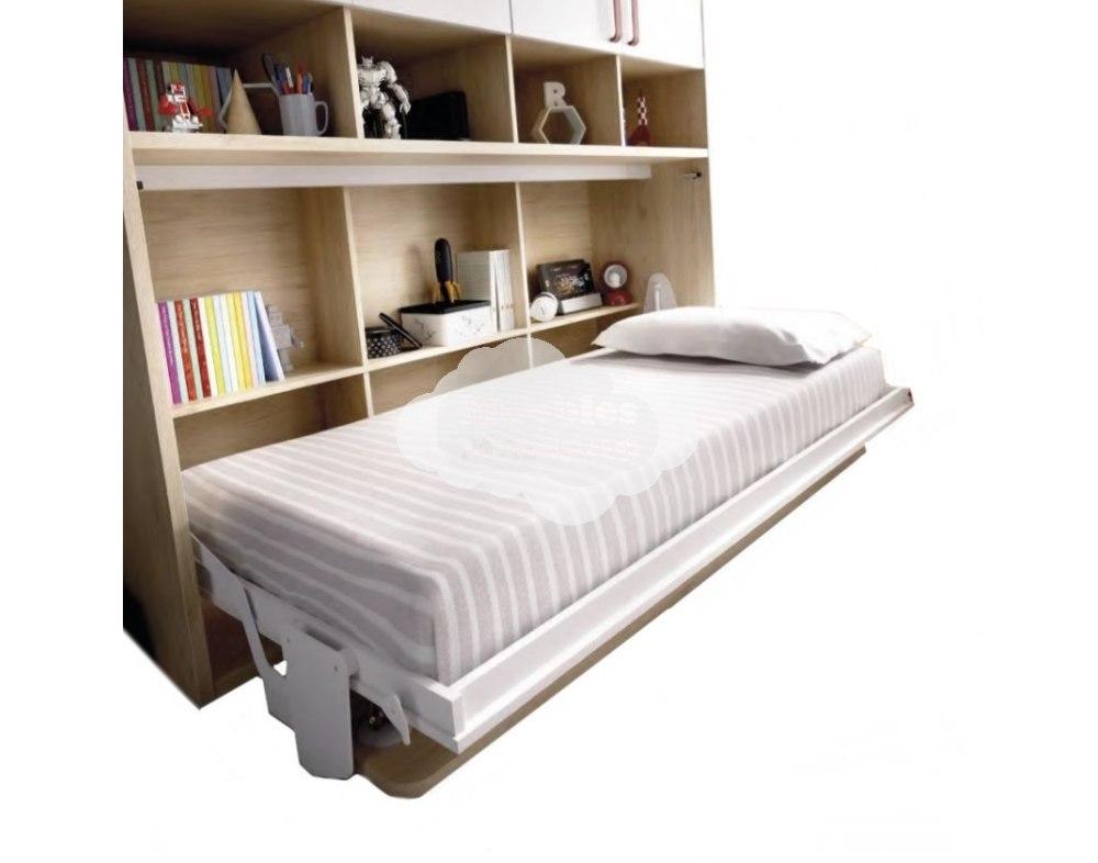 Cama abatible individual econ mica con mesa de estudio y mucho m s - Mesa para cama ...