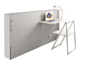 Cama abatible horizontal con escritorio plegable JJP