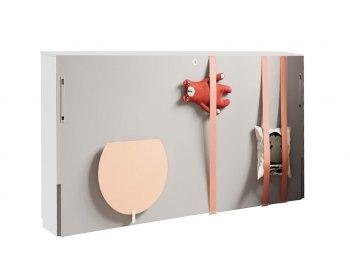Cama abatible horizontal con escritorio plegable pequeña JJP