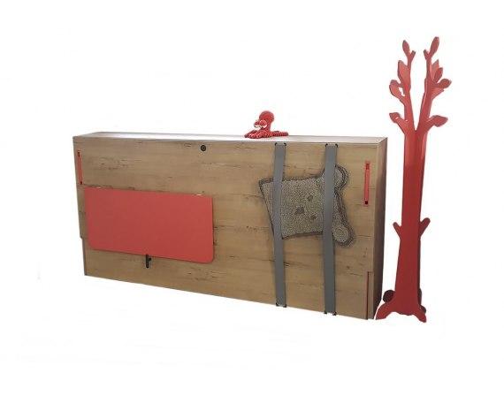 Cama abatible horizontal con escritorio plegable de 100cm