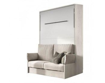 Cama abatible vertical matrimonio con sofá