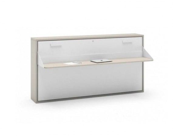 Cama abatible horizontal 90 con mesa jjp - Mueble salon con cama abatible ...