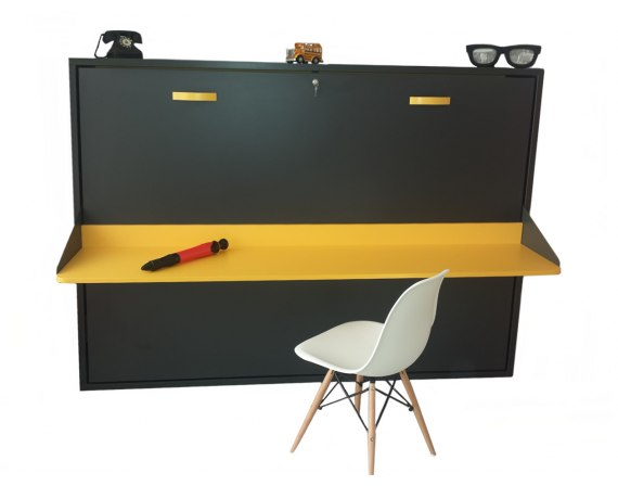 Cama abatible horizontal matrimonio con mesa de estudio econ mica jjp - Camas abatibles con mesa ...