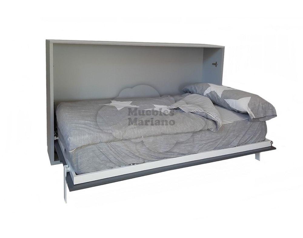 Cama abatible vertical matrimonio lacada todas las medidas for Medidas para cama individual