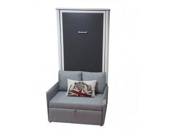 Cama abatible vertical Individual con sofá