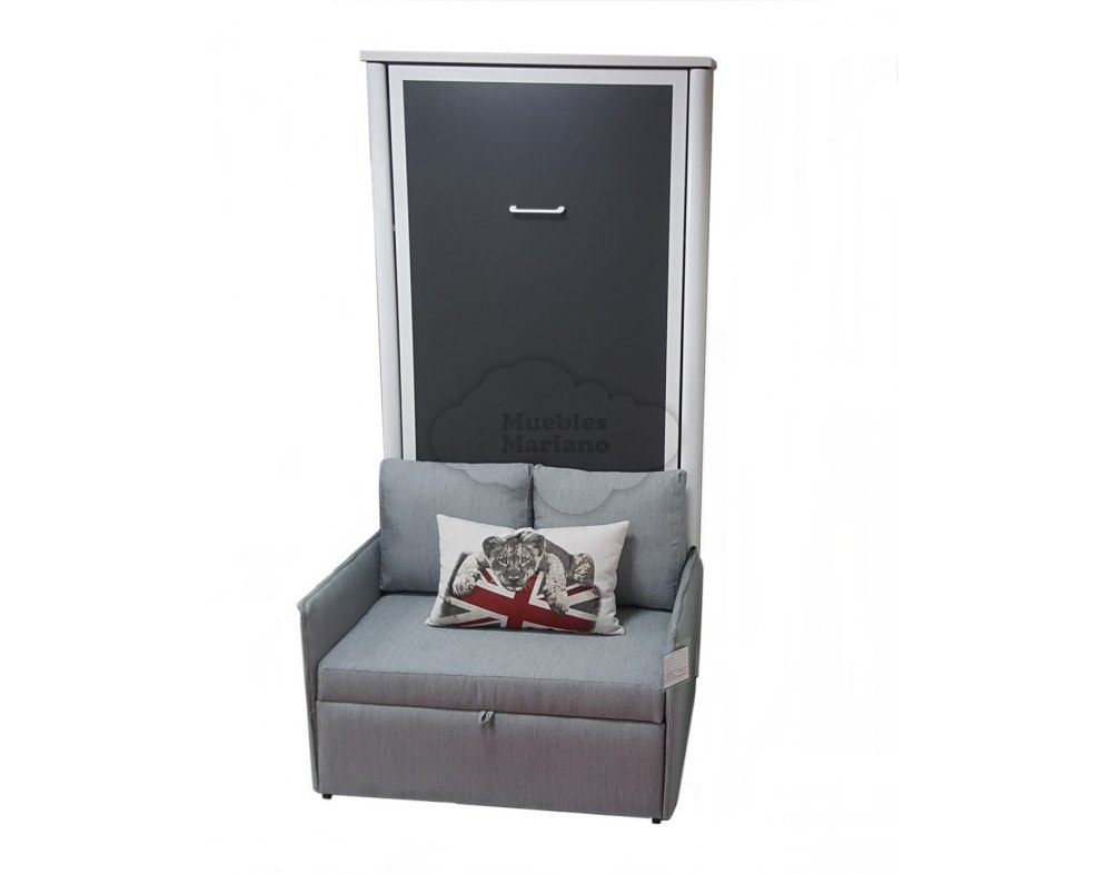 Cama abatible vertical individual con sof for Cama abatible vertical