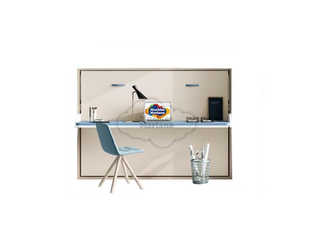 Cama abatible horizontal matrimonio con mesa de estudio - Mesas de estudio abatibles ...
